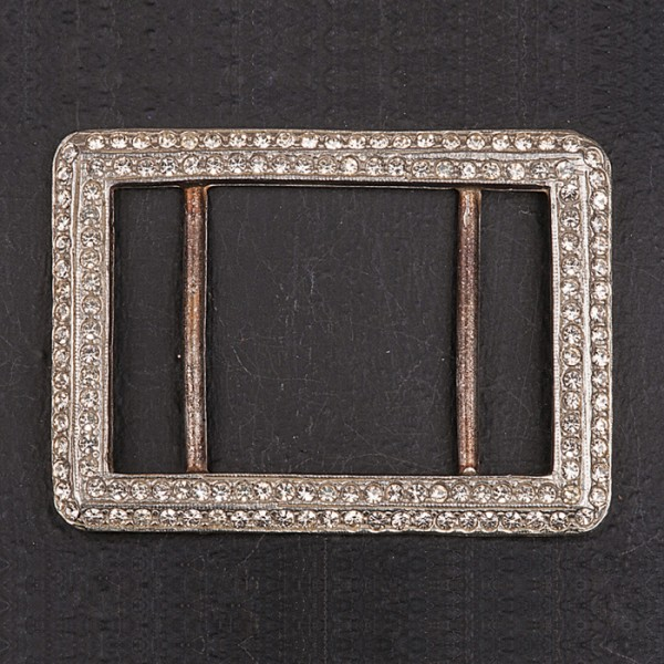 1920s diamante (paste) rectangle buckle