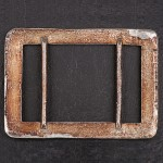 1920s diamante (paste) rectangle buckle - back