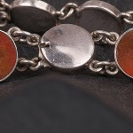 1930s Agate and Sterling Silver Bracelet - detail