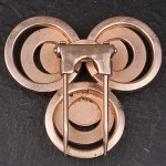 1930s Brass Fur Clips - close