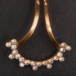 1930s Exquisite diamante hair ornament - detail