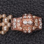1940s Pearl Bracelett with diamante clasp - clasp