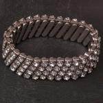 1950s Diamante Expanding Bracelet - 2