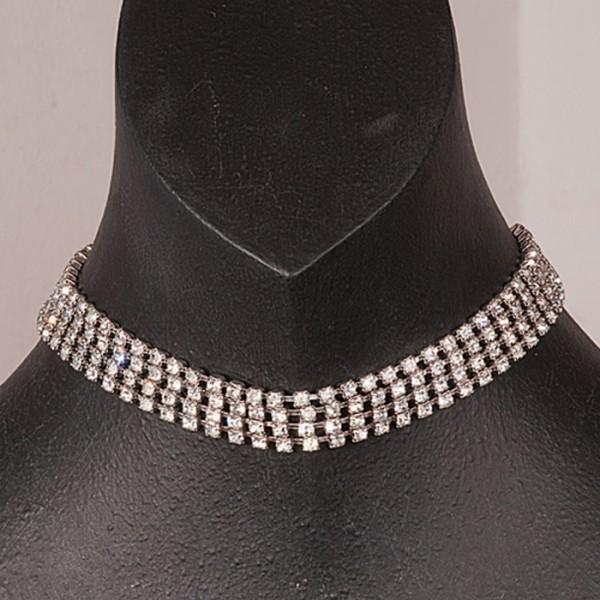 1950s Exquisite Diamante four row necklace