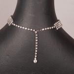 1950s Exquisite Diamante four row necklace - back