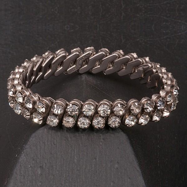 1950s Two row diamante bracelet
