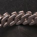 1950s Two row diamante bracelet - detail