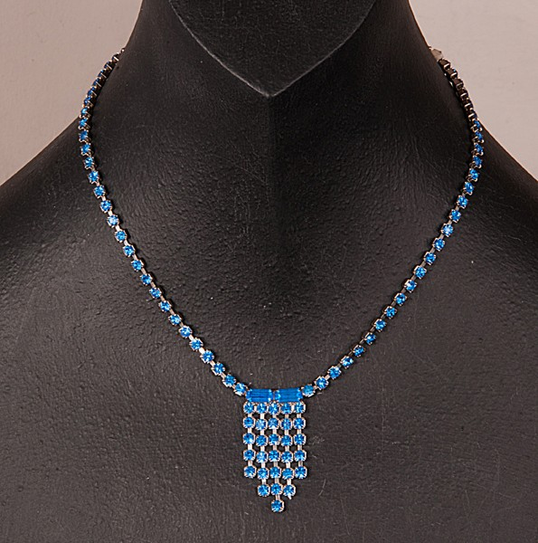 1950s Blue diamante necklace
