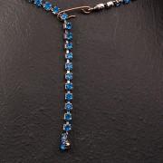1950s Blue diamante necklace - back