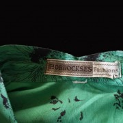 1950s Horrockses Green and Black cotton dress - label