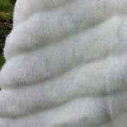 1950s Neiman Marcus White Faux Fur Bolero Cape - detail