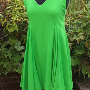 1960s Emerald Green Full dress in Wool