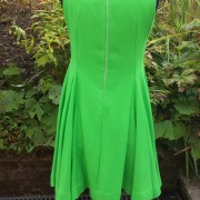 1960s Emerald Green Full dress in Wool - back