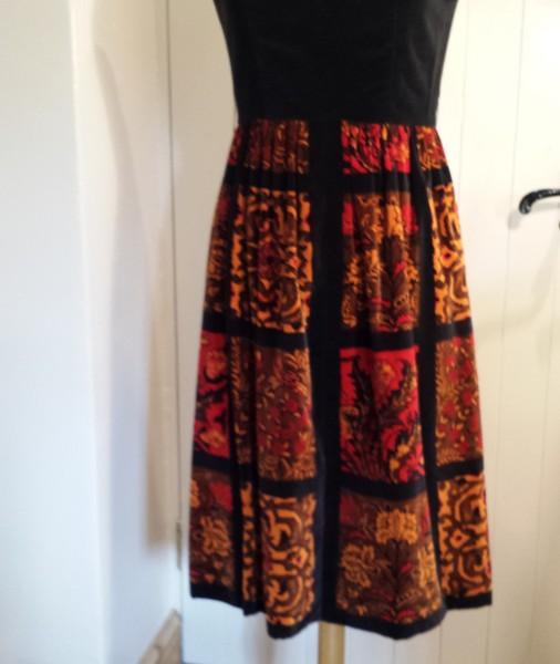 1960s Velvet dress Union made