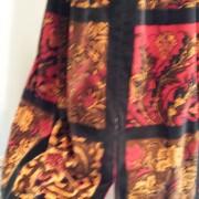 1960s Velvet dress Union made - detail