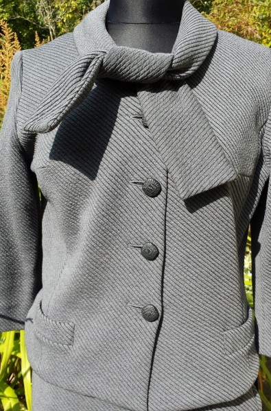 1950s Grey Jerseyknit Jacket 1